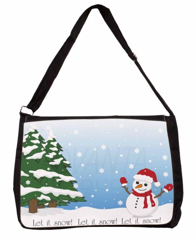 Snow+Man+Large+Black+Laptop+Shoulder+Bag+School%2FCollege%2C+Snow-1SB