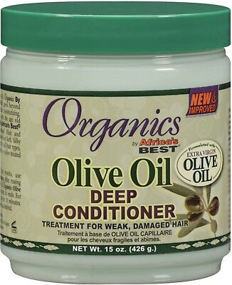 Africas Best Organics Olive Oil Deep Conditioner Treatment for damaged hair (Best Deep Treatment For Damaged Hair)