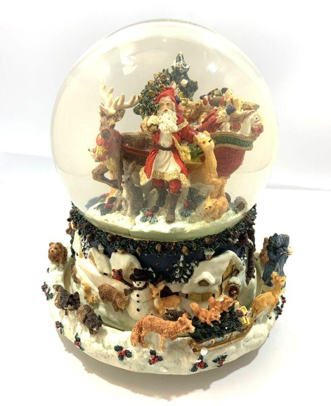 Kirkland Musical Christmas Waterglobe Snowglobe # 109619 With Revolving Base !