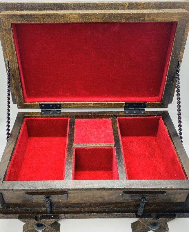 Antique (ca. 1890) Handmade Japanese Tea Caddy Wind-Up Music Box w/ Felt Lining