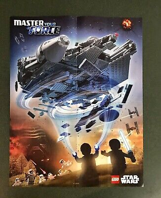 Lego Star Wars Millennium Falcon Kylo Ren Master Your Force Double Sided Poster