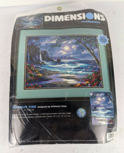 Dimensions Moonlit Tides Needlepoint Kit New Unopened