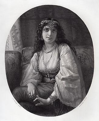 "Enchanting 1800s Charles Louis Muller Engraving ""The Syren"" SIGNED Framed COA"