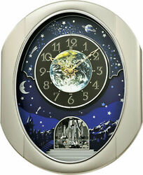 PEACEFUL COSMOS II Musical Magic Motion Wall Clock Rhythm Clocks
