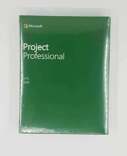 Project Professional 2019 - Retail Packaged Product Brand New MEDIALESS