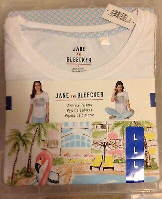 Jane and Bleecker 2 Piece PJ Set Pyjama Sleepwear Nightwear Ladies Women Large🌸