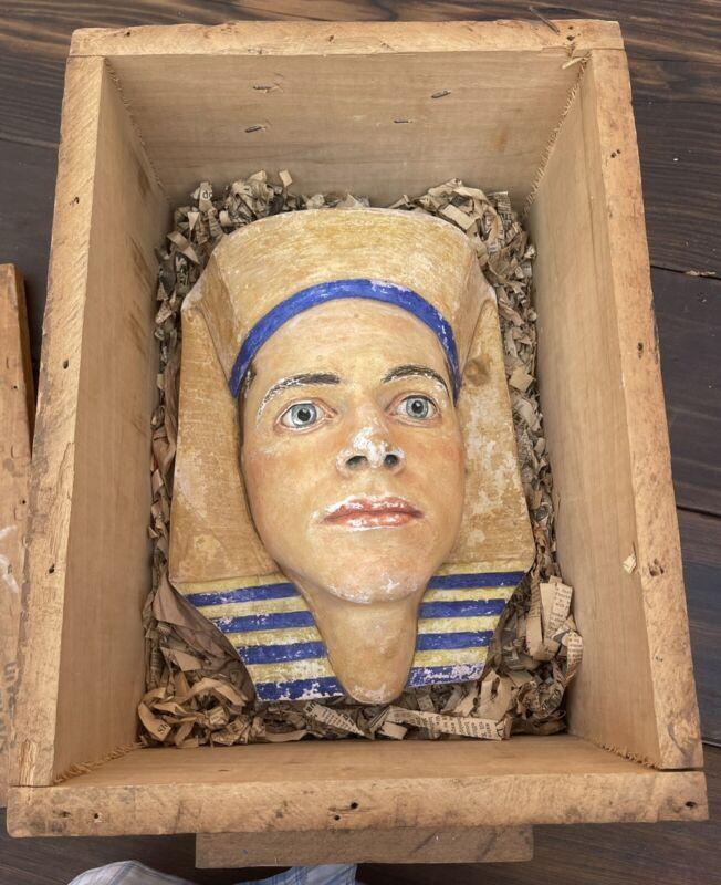 Antique Milton L. Marsh Egyptian Pharaoh Plaster Mask Worlds Fair GGIE