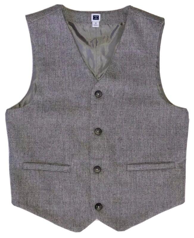 Janie and Jack Vest Boys 10 Wool Blend Gray Dressy