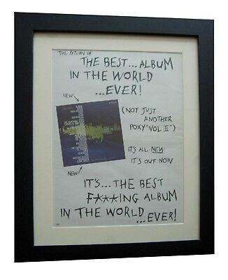 BEST ALBUM IN WORLD EVER+INDIE+POSTER+AD+ORIGINAL 1996+FRAMED+FAST GLOBAL