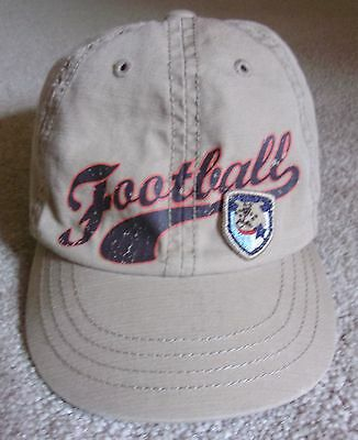 Tcp Childrens Place Ball Cap Hat Football 6 12 Mos Khaki Button Top Easy On Htf