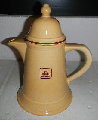 Vintage Pfaltzgraf State Farm Insurance Agency Logo Coffee Tea Pot Teapot
