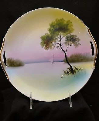 Noritake hand painted decorative serving platter with handles
