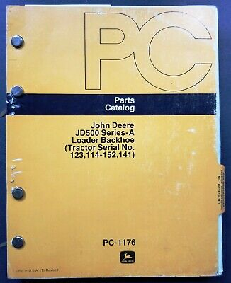 John Deere Jd500 Series A Loader Backhoe Parts Catalog Manual - Pc-1176