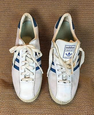 Vintage Adidas Love-Set Made In France Leather Sneakers Sz Women 9 /Men Sz 7.