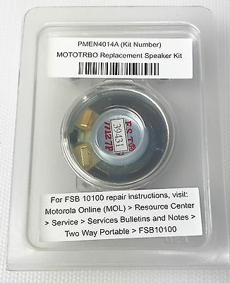 Motorola Oem Mototrbo Replacement Speaker Kit Pmen4014 Pmen4014a