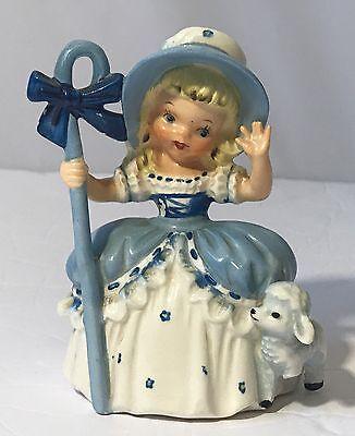 Little Bo Peep Figurine National Potteries Co 1956 Vintage Rare A14920