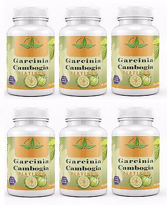 6X Garcinia Cambogia 100  Pure 95  Hca Weight Loss Diet Pills Fat Burner 3000Mg