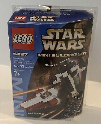 New Sealed LEGO Star Wars Mini Building Jedi Starfighter And Slave I (4487)