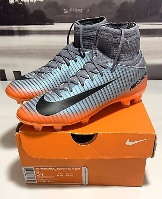 NIKE CR7 MERCURIAL SUPERFLY V FG YOUTH SOCCER CLEATS SHOES 852483-001 SIZE 5Y