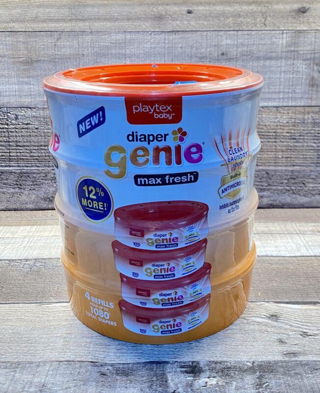 Playtex Baby Diaper Genie Max Fresh Clean Laundry Scent Refill 4 Pk