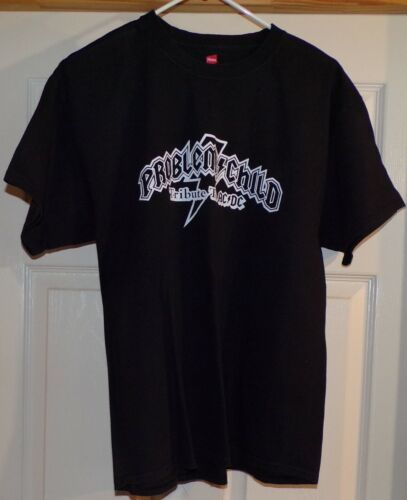 Problem Child Tribute to AC DC Black Short Sleeve T-Shirt by Hanes Size Large L