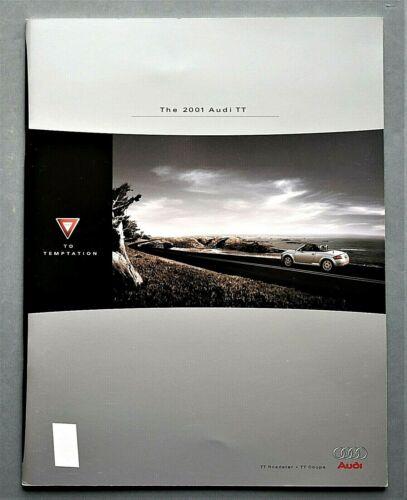 """ORIGINAL 2001 AUDI TT ROADSTER & COUPE BROCHURE ~ 34 PAGES ~ 8.5"""" X 11""""~T01TT"""