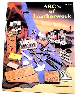 The ABC's of LEATHER WORK Book 61904-00 Tandy Craft Learn Basics How to Books