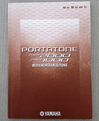 Original Yamaha PSR 2000 + Yamaha PSR 1000 Bedienungsanleitung - Deutsch -