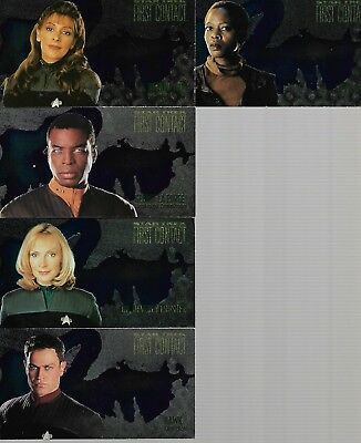 Tradingcards - 5x Star Trek First Contact Widevision Sondercards - Character