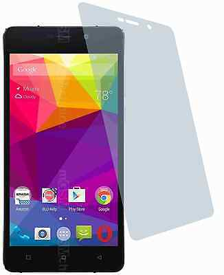 BLU Studio Energy 2 (4x) CrystalClear LCD screen guard protector de pantalla Screen Protector Crystal Blue