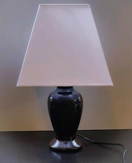 Small Chocolate Ceramic Lamp