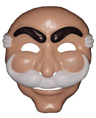 Mr Robot Old Man Adult Flesh Tone Face Mask Halloween Rasta Imposta (Robot Face Halloween)