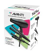 "Avanti hairdryer + flat iron +5/8"" mini flat iron FREE PLAY Styling Trio AFR2PPC"