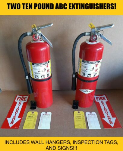 Fire Extinguisher - 10 Lb ABC Dry Chemical Lot of 2 [SCRATCH&DENT]