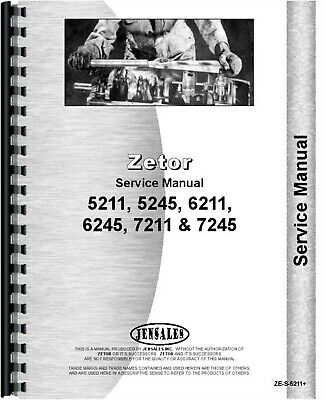 Zetor 5211 6211 7211 5245 6245 7245 Tractor Service Repair Manual