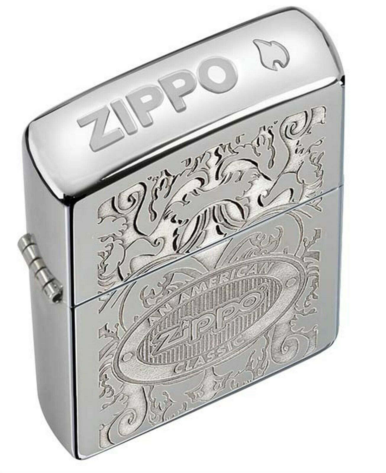 Zippo Pipe Lighter: American Classic, Crown Stamp - High Pol