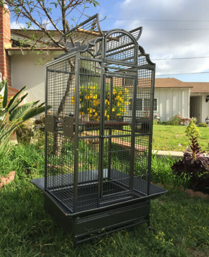 "64"" Large Elegant Bird Parrot Open Play-Top Cage Cockatiel Macaw Conure Aviary"