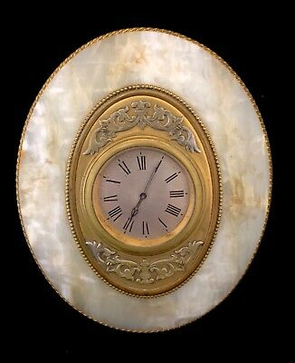 Antique Onyx Gilt Ormolu 8 Day Mantel Bracket Easel Clock ROBINSON SHREWSBURY