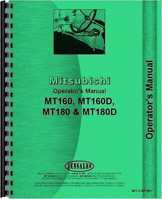 Mitsubishi Mt160 Mt160d Mt180 Mt180d Tractor Owners Operators Manual