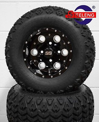 "GOLF CART 10"" PIONEER WHEELS/RIMS and 20x10-10 ALL TERRAIN DOT TIRES (4)"
