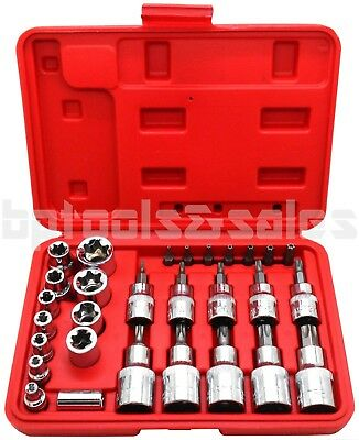Torx Bit Socket Set - 30pc Male Tamper Proof Star Bit & Female E Socket Set Torx Driver Bits Tool CR-V