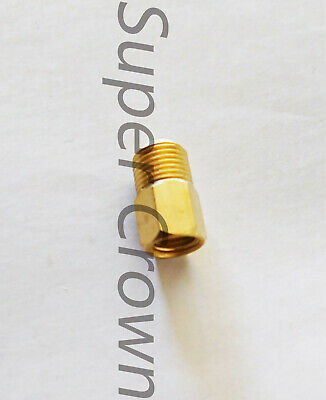 M8*1.0 x NPT1/8 (Female x Male)Brass Thread Reducer Coupling Pipe Fitting Gauge ()