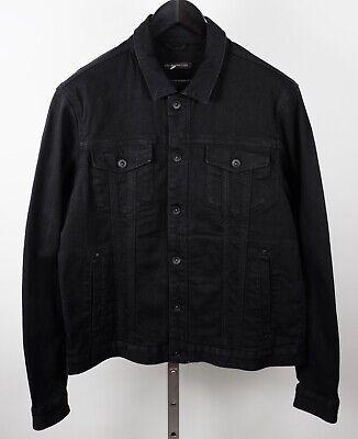 New John Varvatos USA sz L denim jacket black