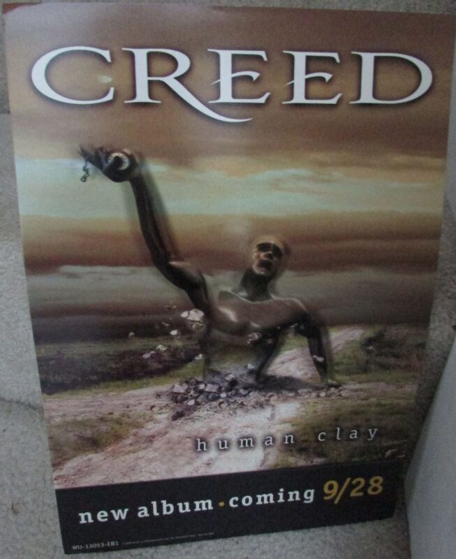 1999 Creed Human Clay Promo Item Flat 9″ x 13″ Standing Poster