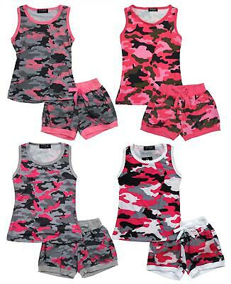Girls Army Camo Print Vest Tank Top & - Kinder Army Outfits