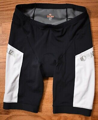 PEARL IZUMI Elite Series Padded Bicycle Cycling Shorts Mens XL Black White