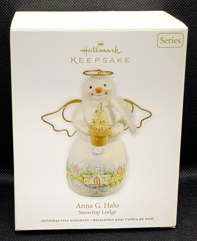 Hallmark Keepsake Snowtop Lodge Anna G. Halo Ornament 2011