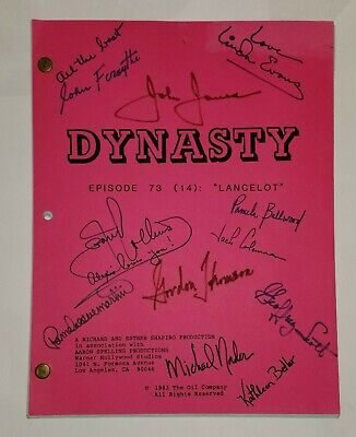 Dynasty Original TV Tele Script Episode 73 (14) Signed by Cast 1983