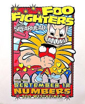 Foo Fighters 1995 Original Silkscreen Concert Promo Poster Uncle Charlie Art S/N