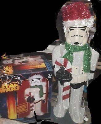 "Kurt Adler 28"" Soft Tinsel Star Wars Storm Trooper Christmas Yard Art Decor"